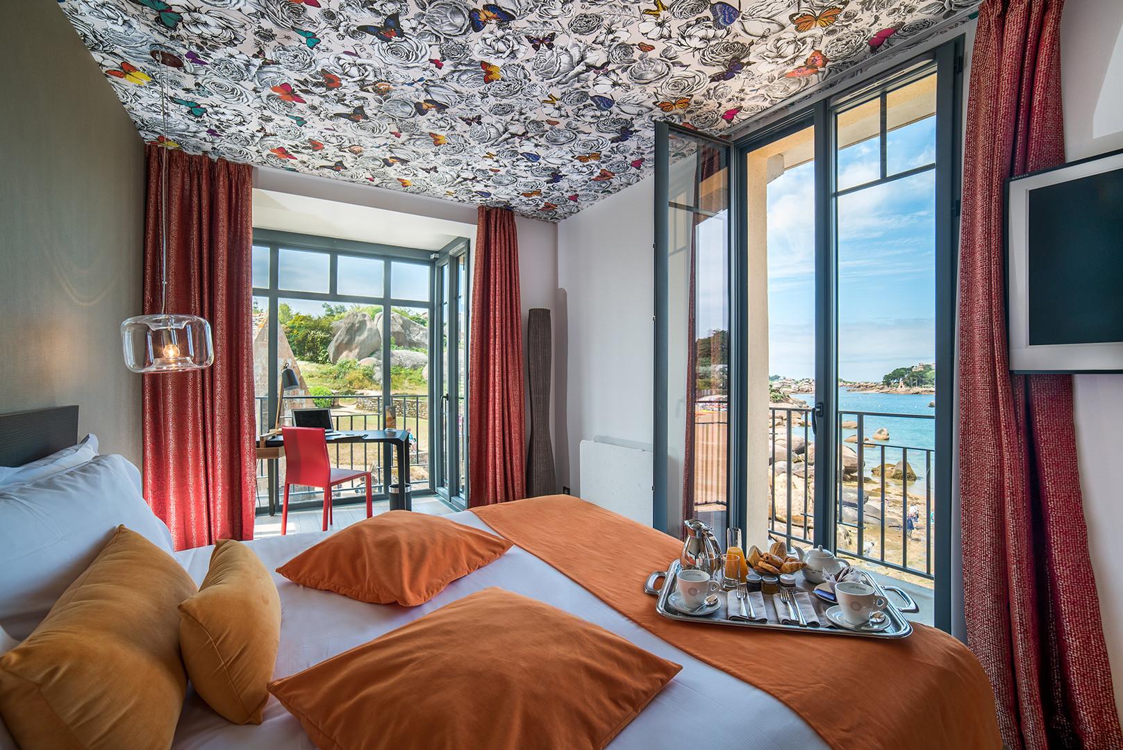 Décoration des chambres Hôtel Castel Beau Site **** à Ploumanac'h